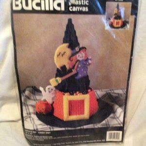 Bucilla Halloween Witch's HAT candy dish new pk